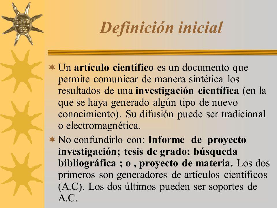 Definición inicial