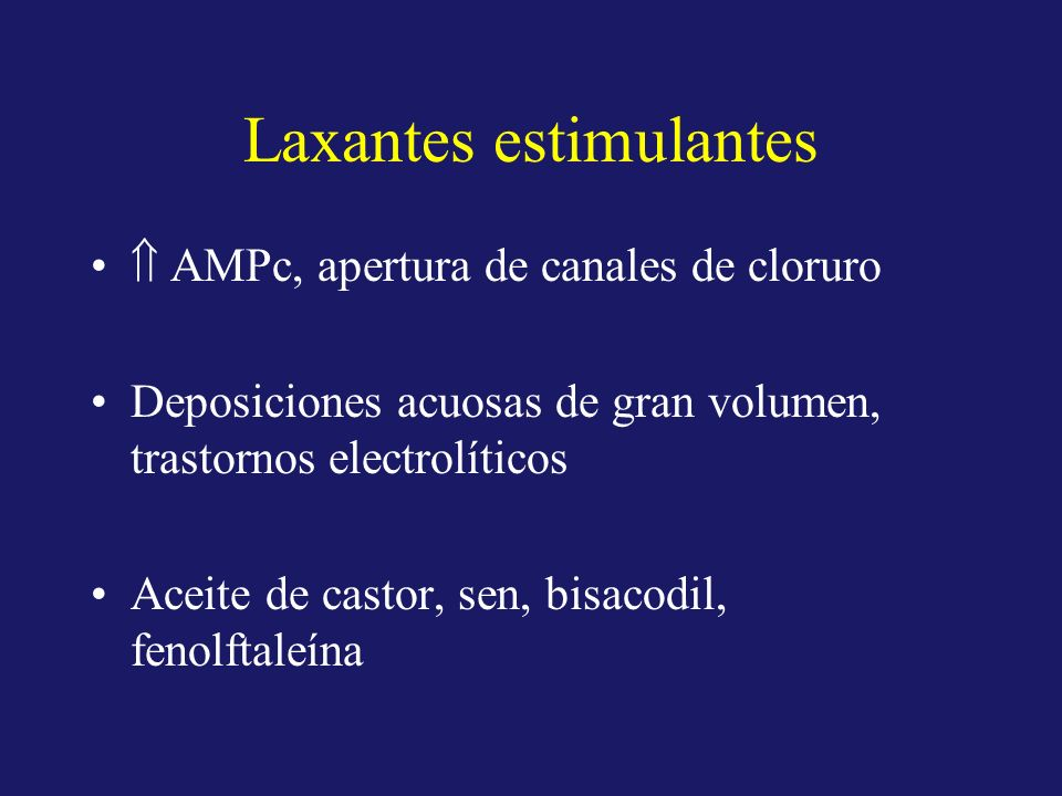 Laxantes estimulantes
