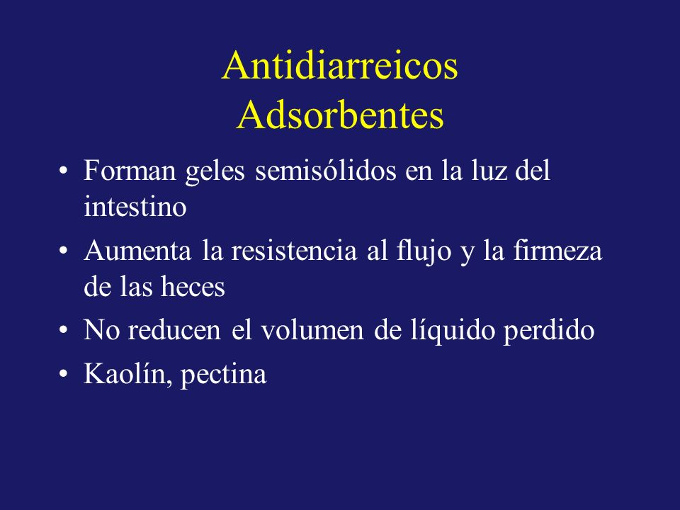 Antidiarreicos Adsorbentes