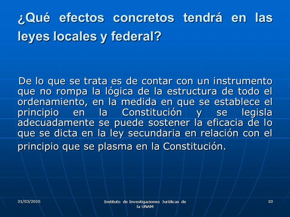 ¿Qué efectos concretos tendrá en las leyes locales y federal
