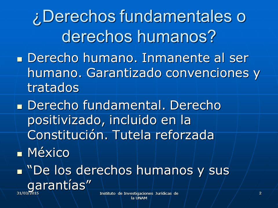¿Derechos fundamentales o derechos humanos