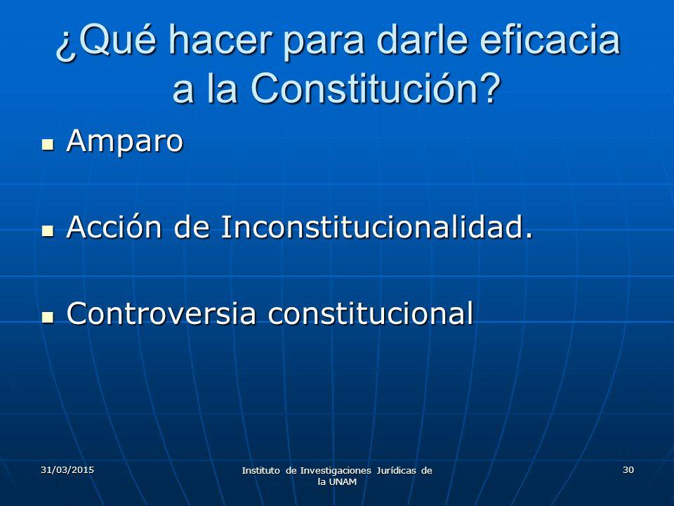 ¿Qué hacer para darle eficacia a la Constitución