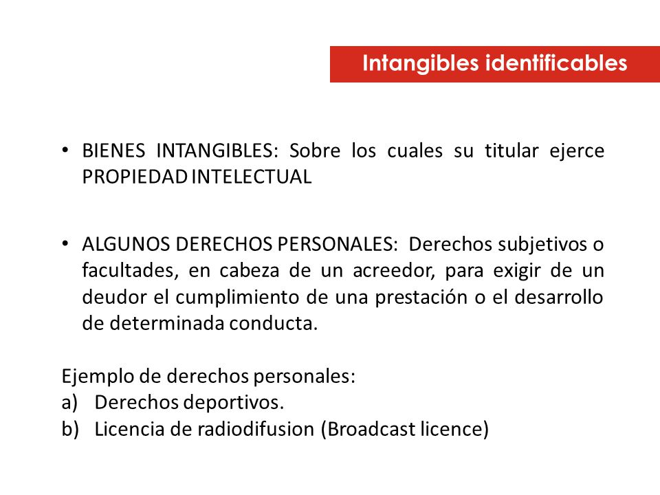 Intangibles identificables