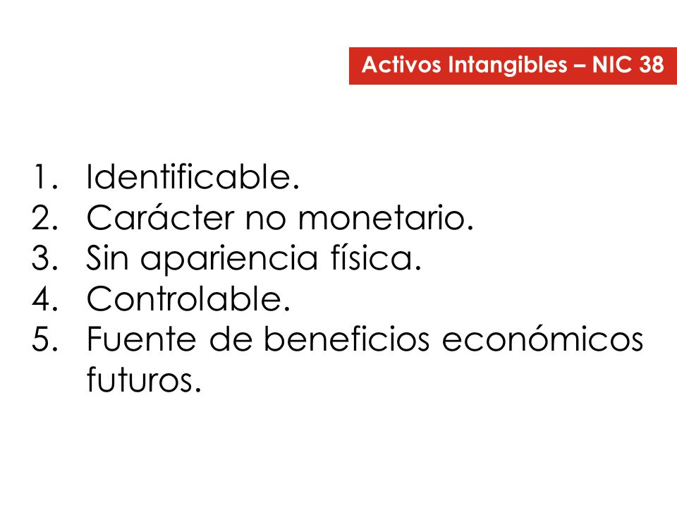 Activos Intangibles – NIC 38
