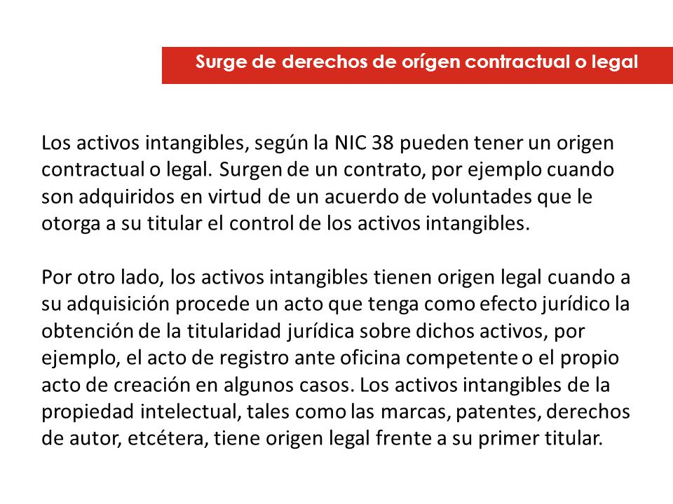 Surge de derechos de orígen contractual o legal