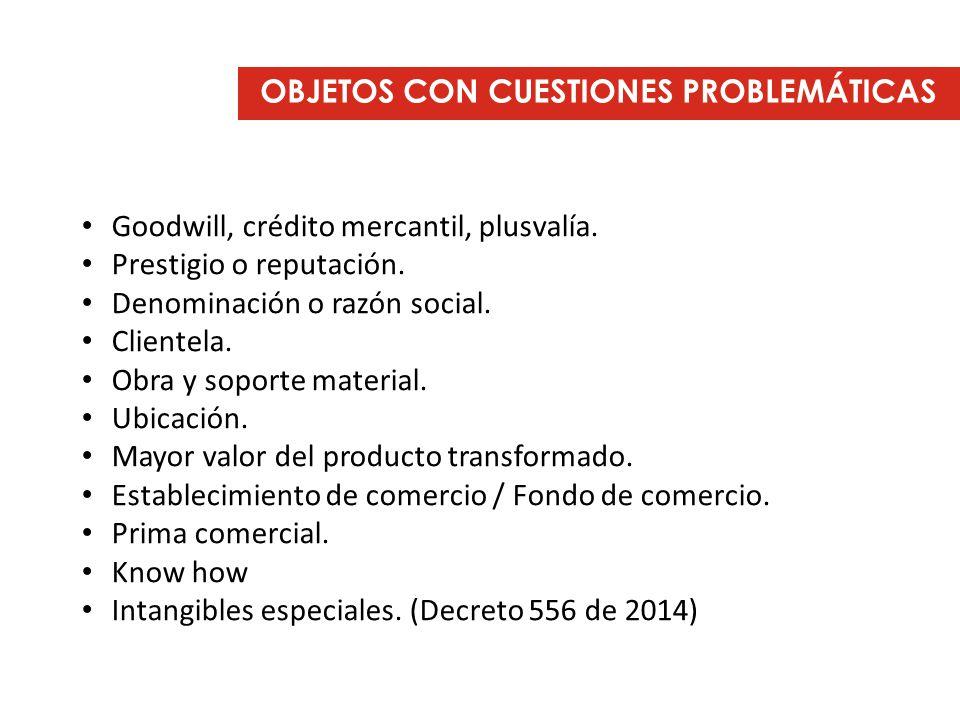 OBJETOS CON CUESTIONES PROBLEMÁTICAS