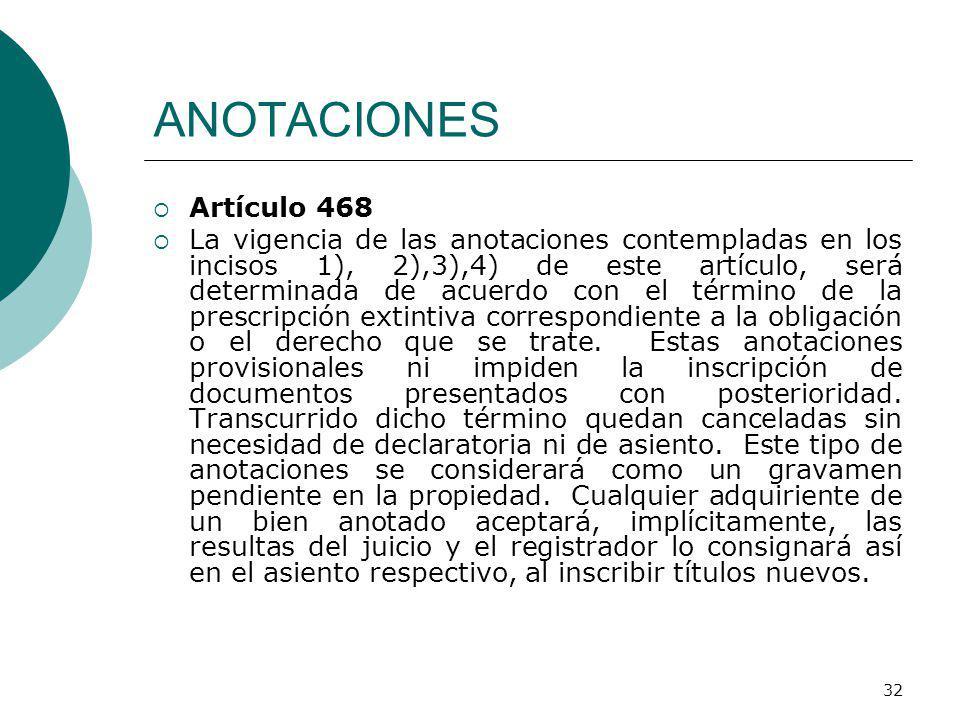 ANOTACIONES Artículo 468.