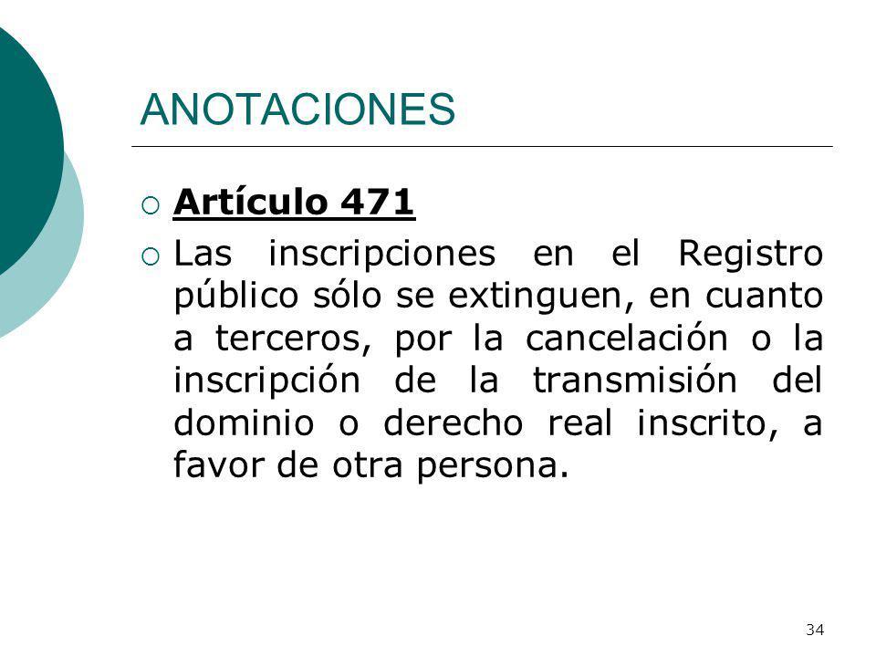 ANOTACIONES Artículo 471.