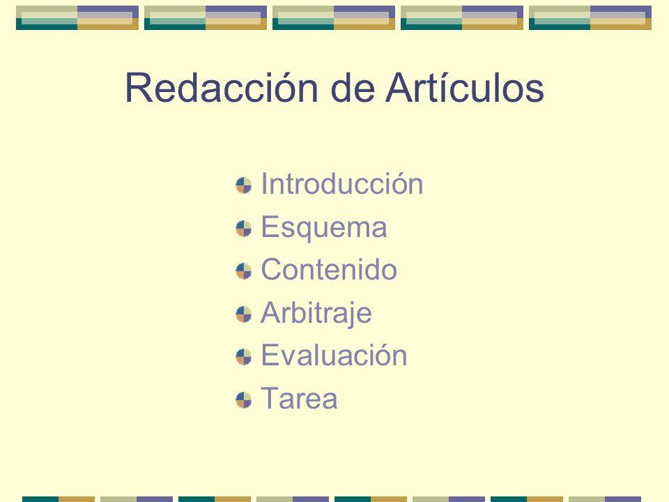 Redacción de Artículos