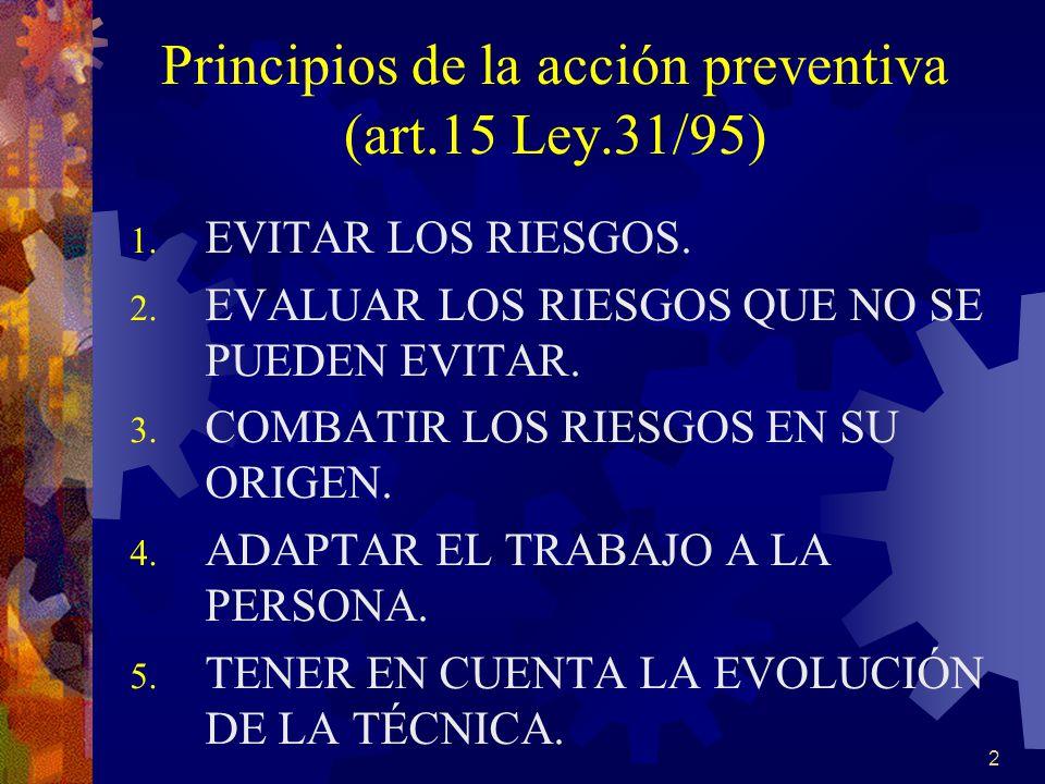 Principios de la acción preventiva (art.15 Ley.31/95)