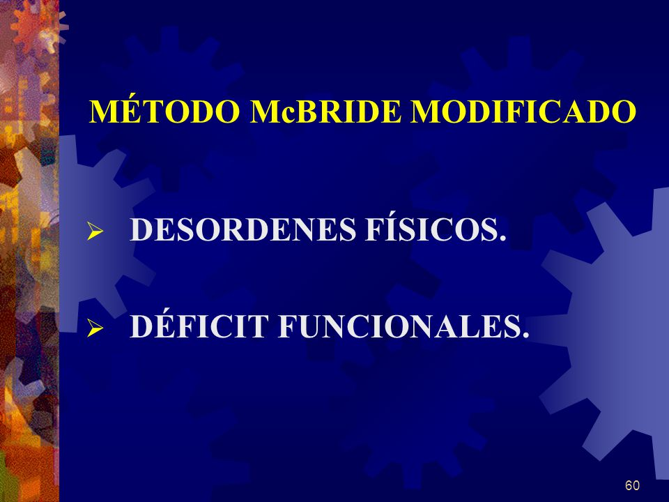 MÉTODO McBRIDE MODIFICADO