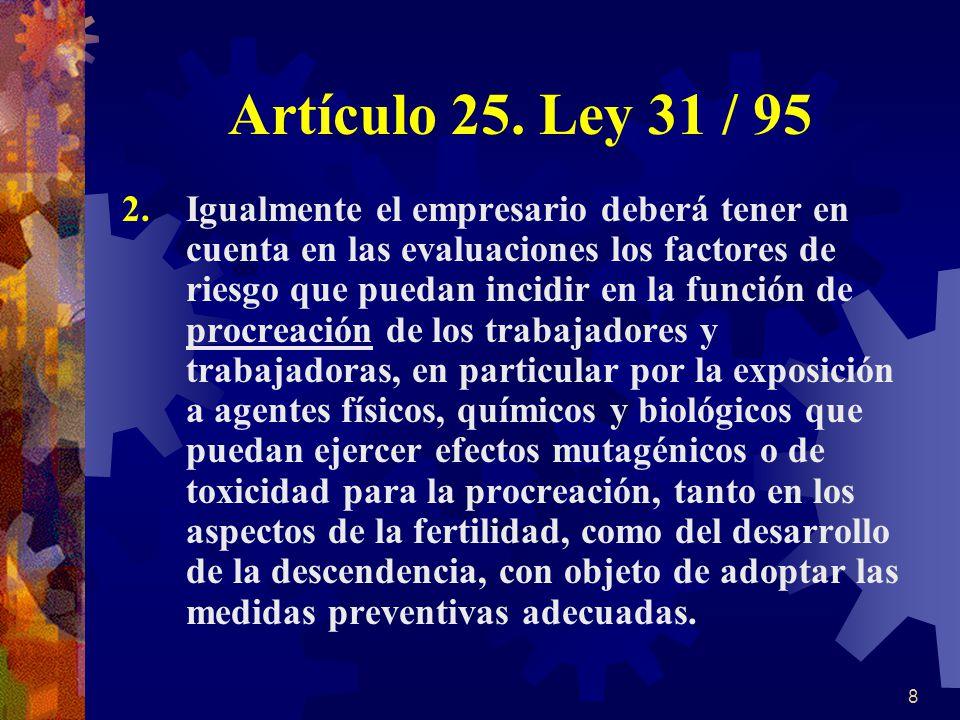 Artículo 25. Ley 31 / 95