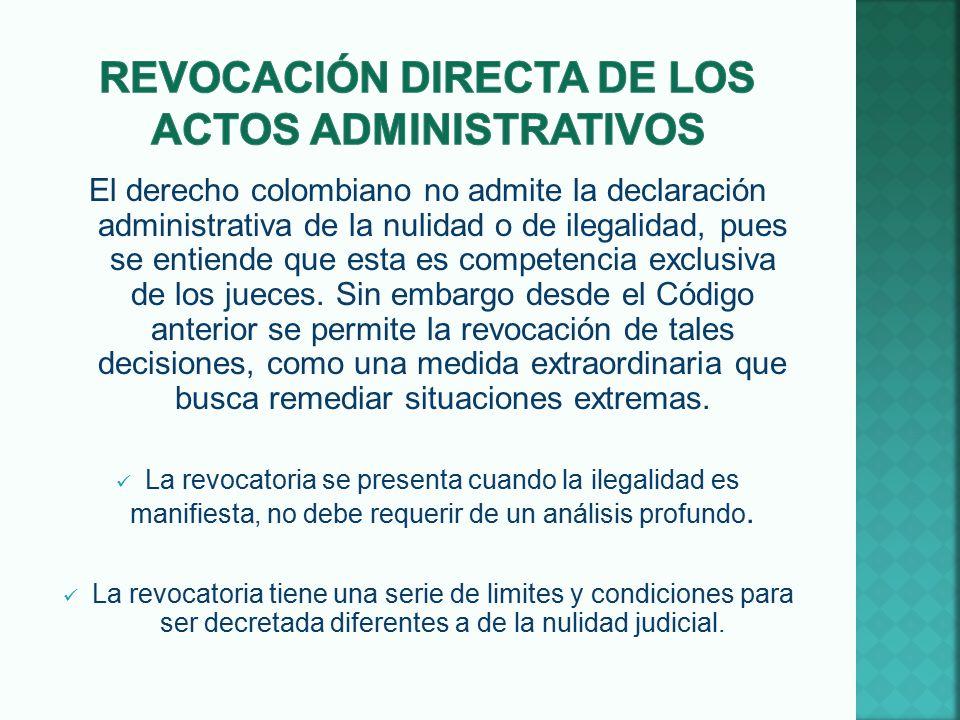 Revocación DIRECTA DE LOS ACTOS ADMINISTRATIVOS