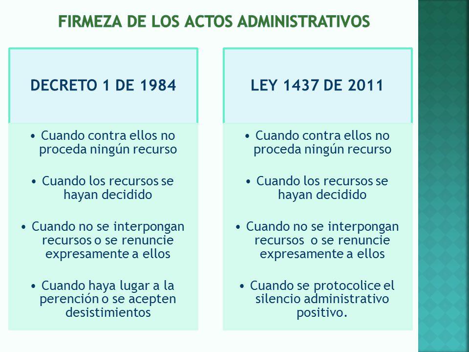 FIRMEZA DE LOS ACTOS ADMINISTRATIVOS