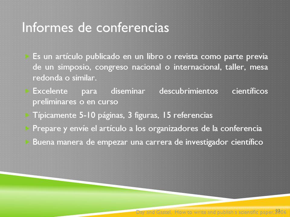 Informes de conferencias