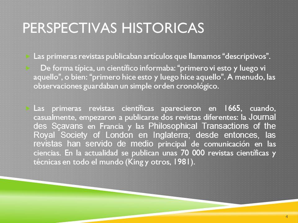 PERSPECTIVAS HISTORICAS