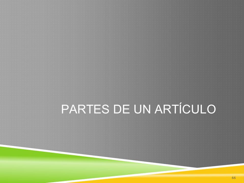 PARTES DE UN ARTÍCULO 66