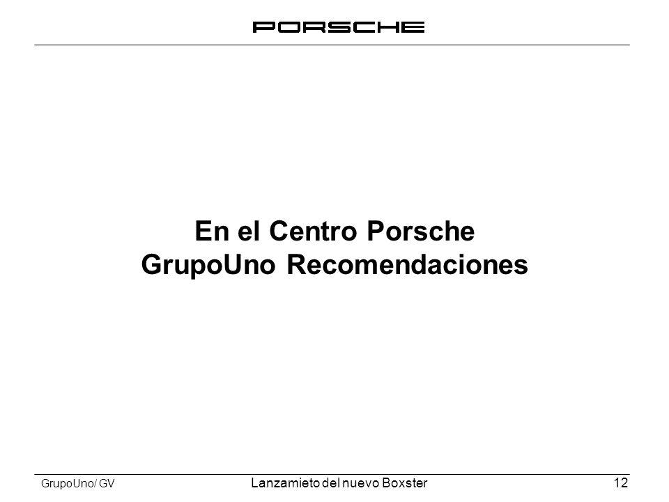 En el Centro Porsche GrupoUno Recomendaciones