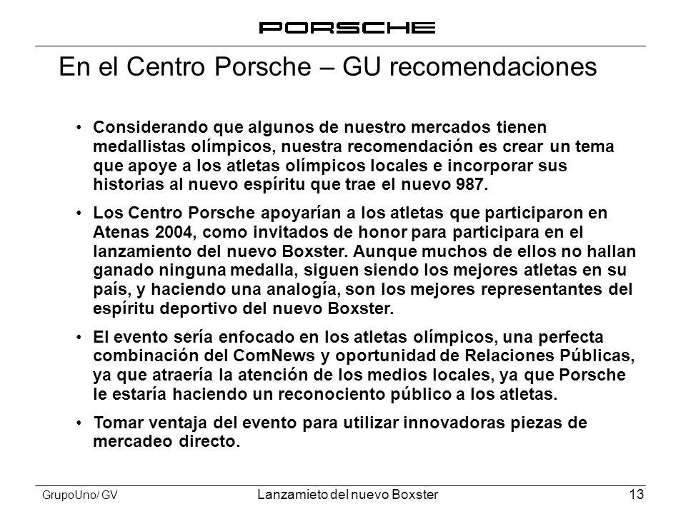 En el Centro Porsche – GU recomendaciones