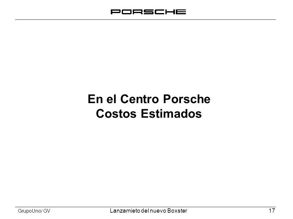 En el Centro Porsche Costos Estimados