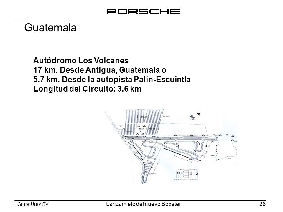 Guatemala Autódromo Los Volcanes 17 km. Desde Antigua, Guatemala o
