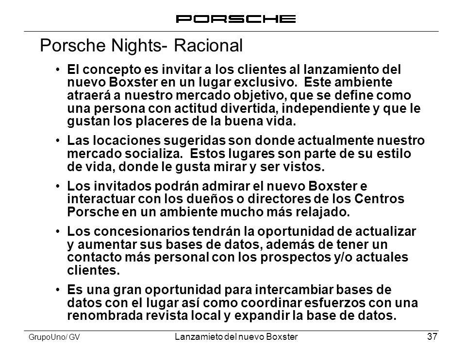 Porsche Nights- Racional