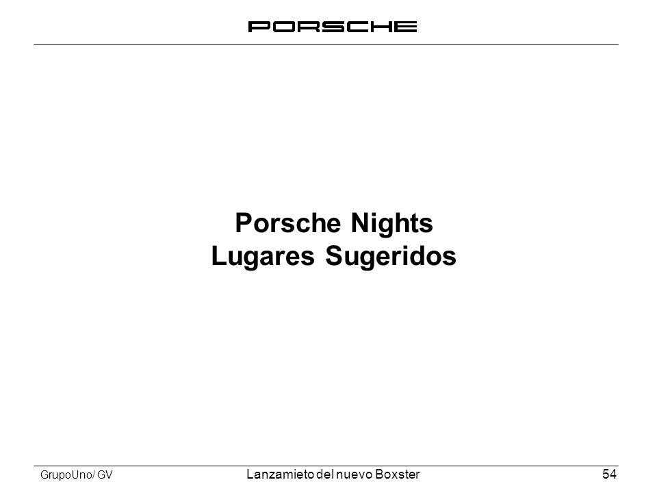 Porsche Nights Lugares Sugeridos