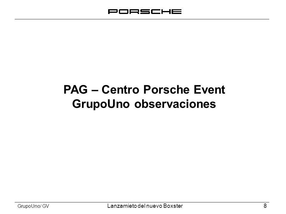 PAG – Centro Porsche Event GrupoUno observaciones