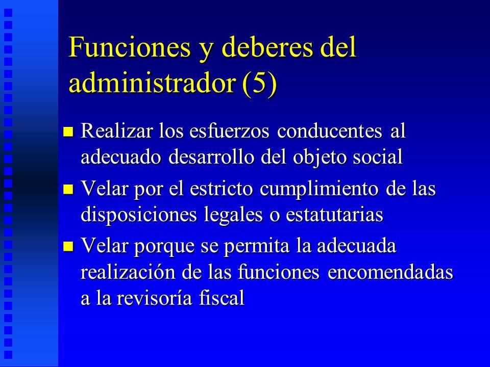Funciones y deberes del administrador (5)