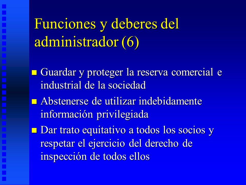 Funciones y deberes del administrador (6)