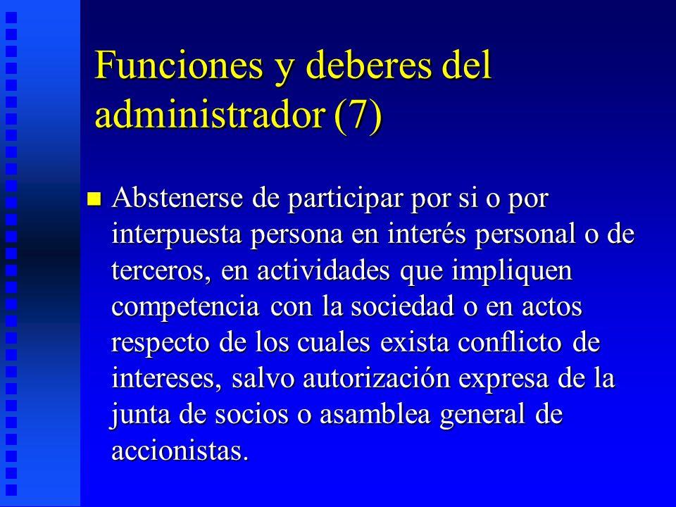 Funciones y deberes del administrador (7)
