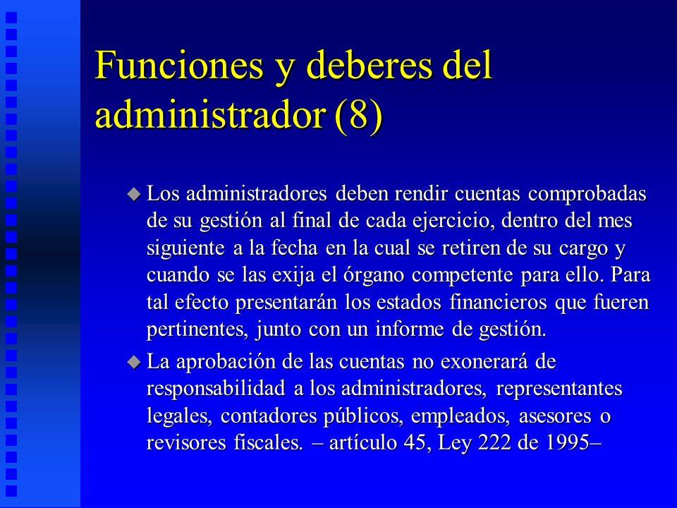 Funciones y deberes del administrador (8)