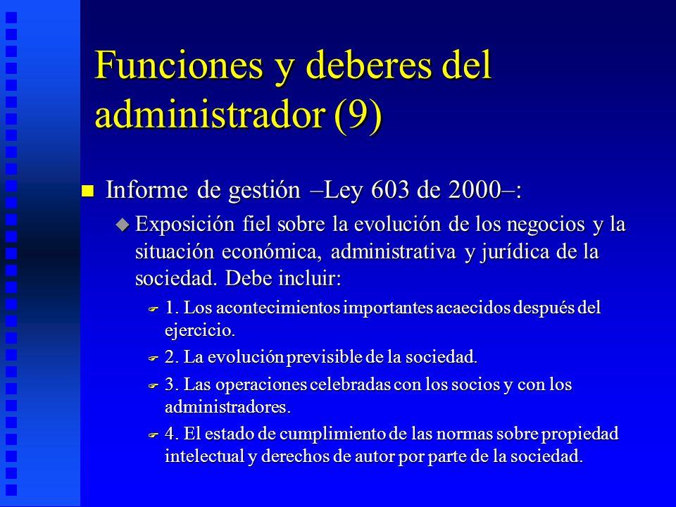 Funciones y deberes del administrador (9)