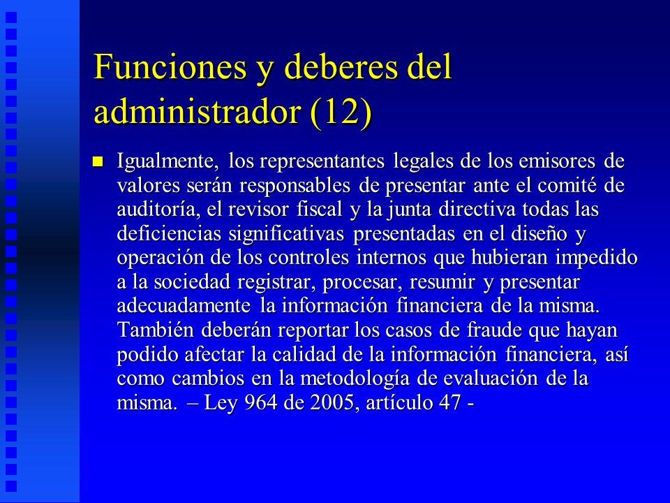 Funciones y deberes del administrador (12)