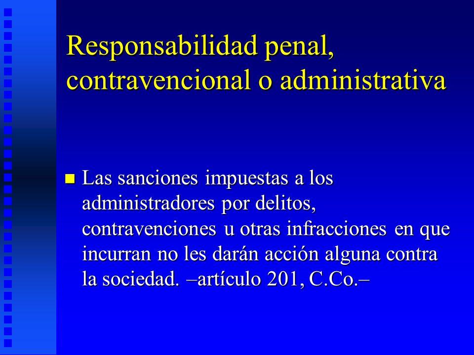 Responsabilidad penal, contravencional o administrativa