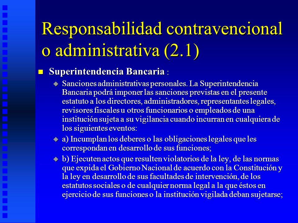 Responsabilidad contravencional o administrativa (2.1)