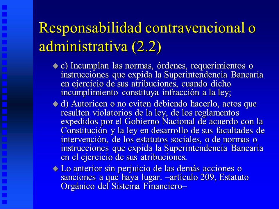Responsabilidad contravencional o administrativa (2.2)