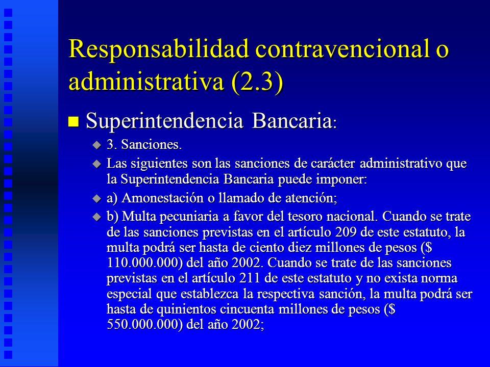 Responsabilidad contravencional o administrativa (2.3)