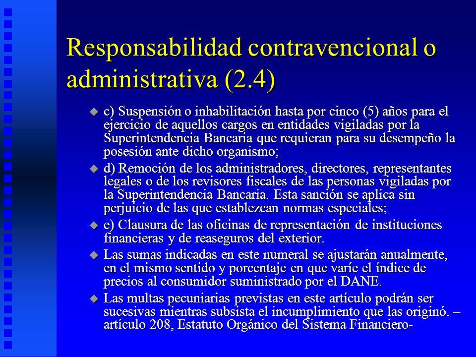 Responsabilidad contravencional o administrativa (2.4)