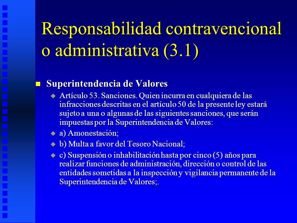Responsabilidad contravencional o administrativa (3.1)