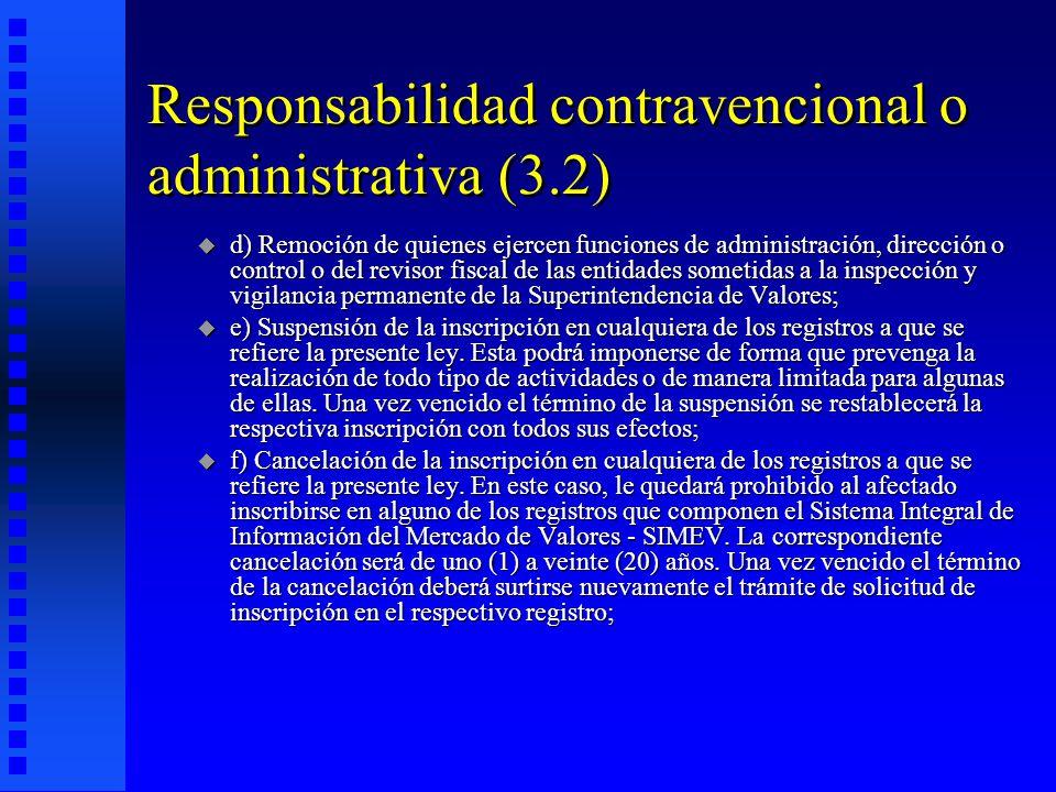 Responsabilidad contravencional o administrativa (3.2)