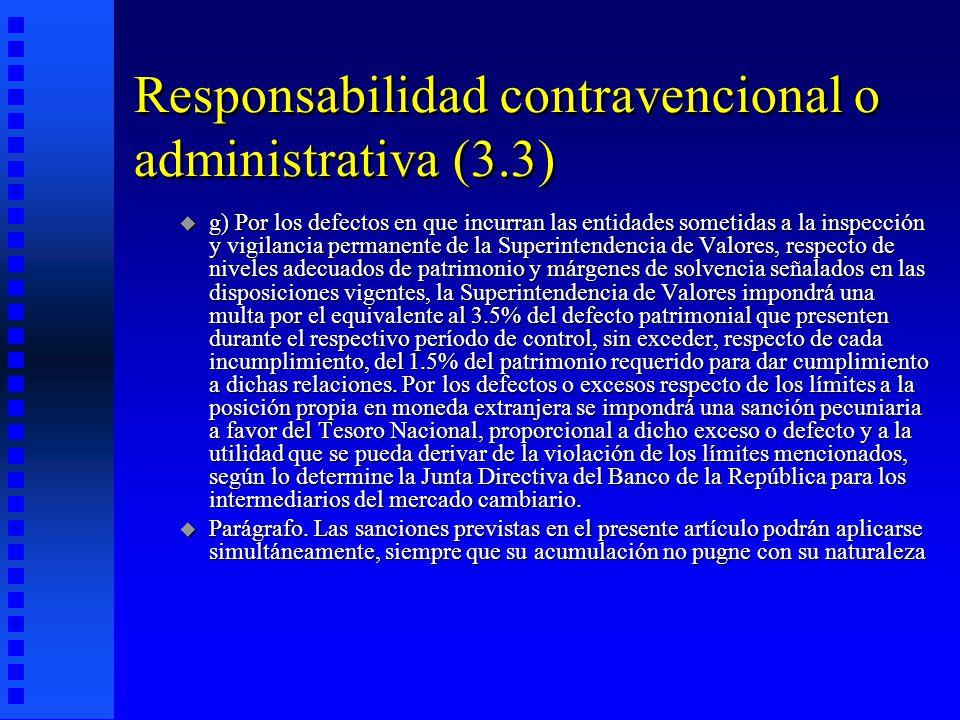 Responsabilidad contravencional o administrativa (3.3)