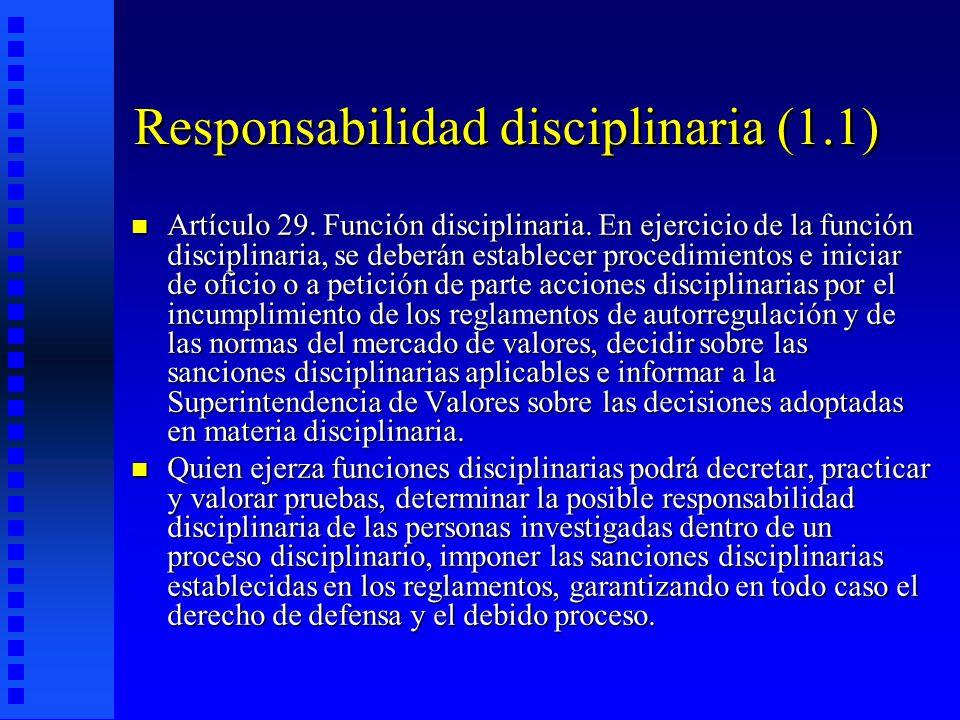 Responsabilidad disciplinaria (1.1)