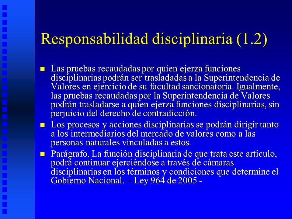 Responsabilidad disciplinaria (1.2)