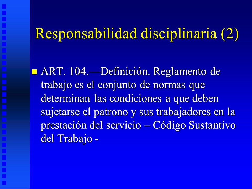 Responsabilidad disciplinaria (2)