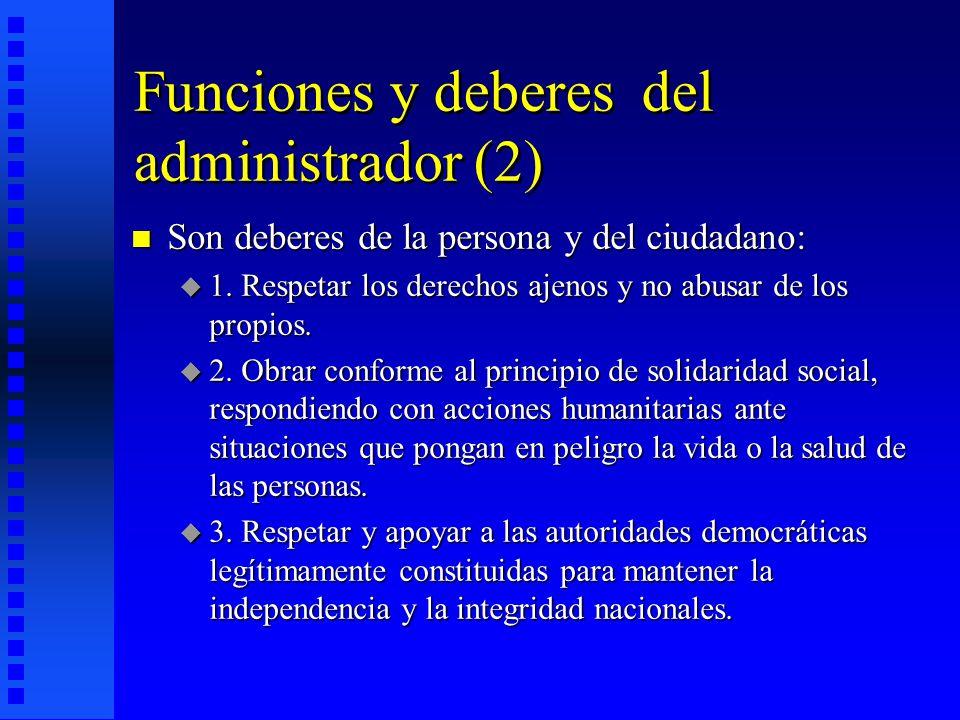 Funciones y deberes del administrador (2)