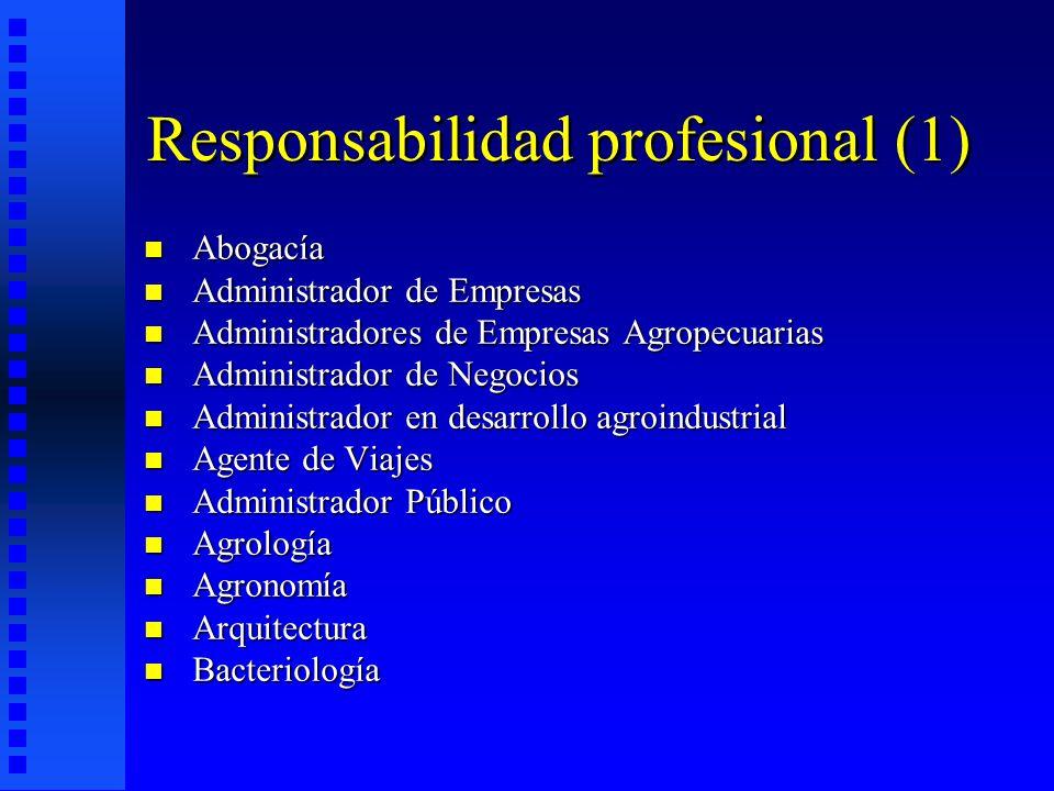 Responsabilidad profesional (1)