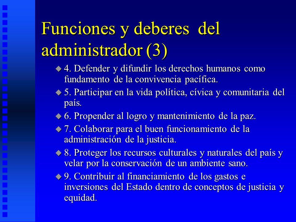 Funciones y deberes del administrador (3)