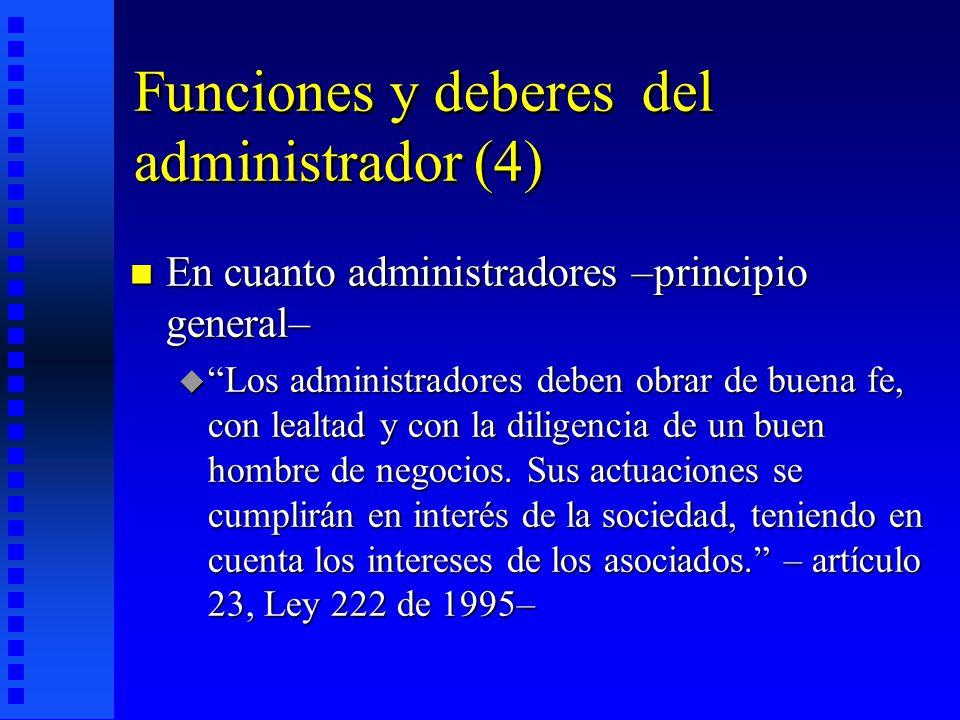 Funciones y deberes del administrador (4)