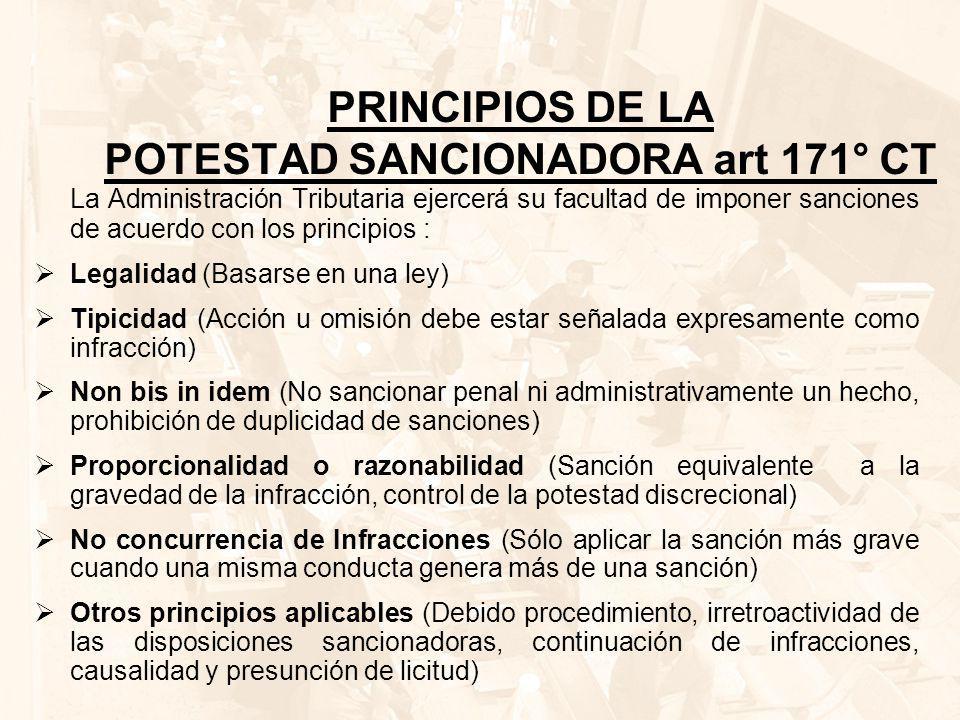 PRINCIPIOS DE LA POTESTAD SANCIONADORA art 171° CT
